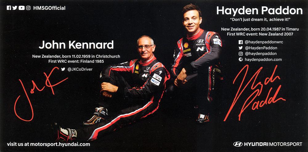Hyundai Motorsport 2017 - Hyundai i20 Coupé WRC, presentation card 2017, 21,0 x 10,5 cms