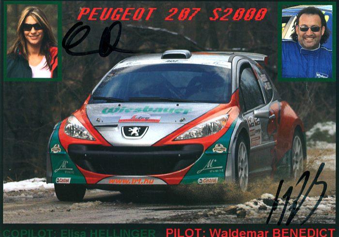 Peugeot 207 Super 2000, #16, 32. Lico Lavanttal Rallye 2008, 14,4 x 10,3 cms
