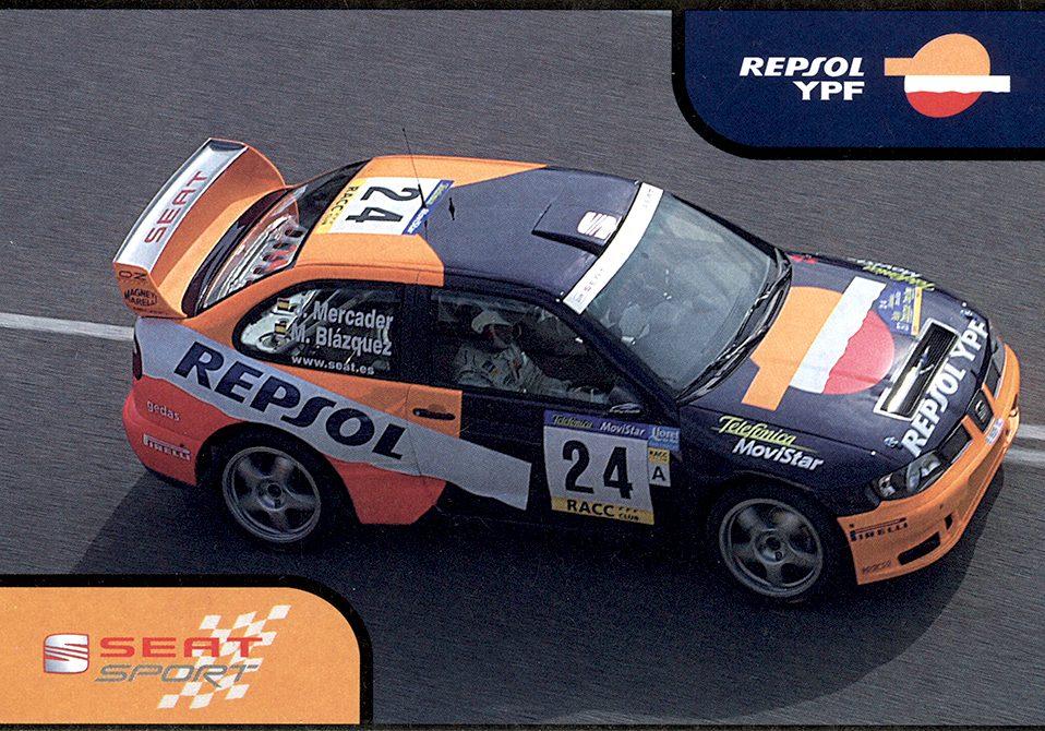 Seat Cordoba WRC Evo3, #24, 37. Rallye Catalunya - Costa Brava - Rallye de España 2001, 15,5 x 10,5 cms