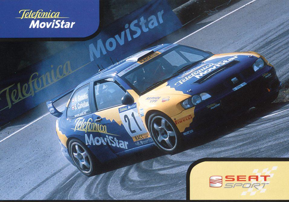 Seat Cordoba WRC Evo3, #21, 37. Rallye Catalunya - Costa Brava - Rallye de España 2001, 15,5 x 10,5 cms