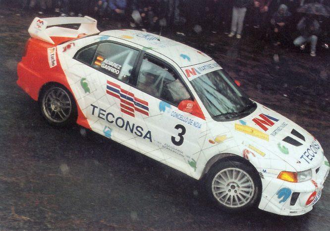 Mitsubishi Lancer EVO V, #3, Rallye de Noia 2001, 14,8 x 10,5 cms