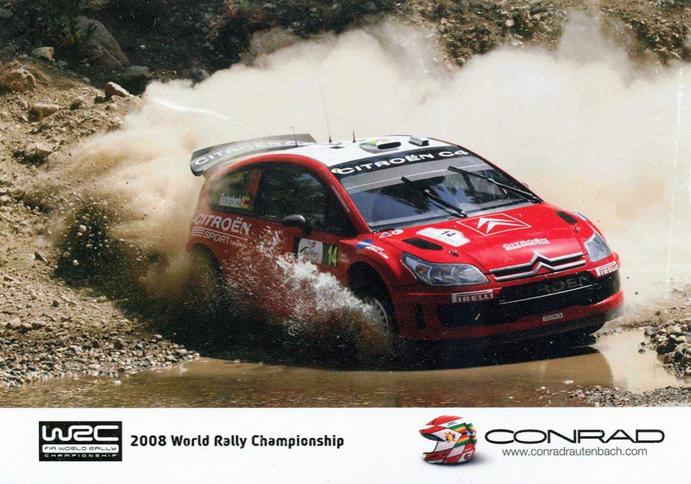 Citroën C4 WRC, #14, 9. Rally of Turkey 2008, 21,0 x 14,8 cms
