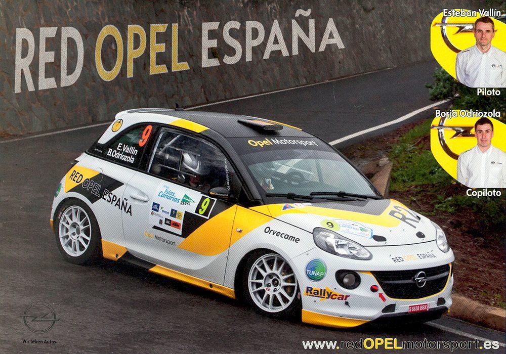 Opel Adam R2, #9, 38. Rally Islas Canarias - El Corte Inglés 2014, 21,0 x 14,8 cms