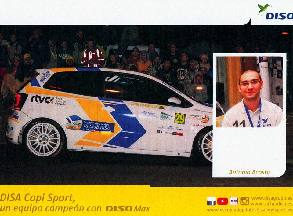 ACOSTA Antonio, Volkswagen Polo TDI, #29, 39. Rally Islas Canarias - El Corte Inglés 2015, 14,8 x 10,5 cms