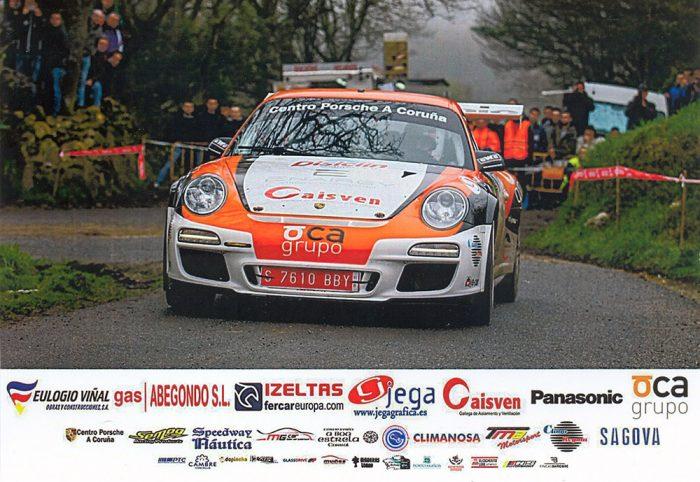 Porsche 997 GT3 RS 3.8, #5, 47. Rallye de Ferrol 2016, 18,0 x 12,6 cms