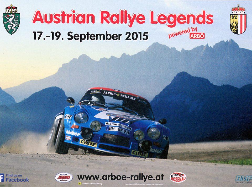 2. AUSTRIAN Rallye Legends 2015, Renault Alpine A1600, 14,8 x 10,5 cms