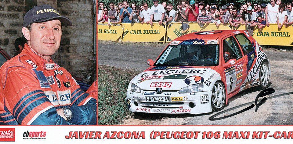 AZCONA Javier - NAZÁBAL Ezequiel, Peugeot 106 Maxi Kit Car, #6, 23. Rallye de Aviles 1999, 21,0 x 10,0 cms