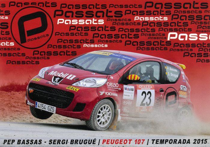 Peugeot 107, #23, 6. Ral.li Pla d'Urgell 2015, 21,0 x 14,8 cms