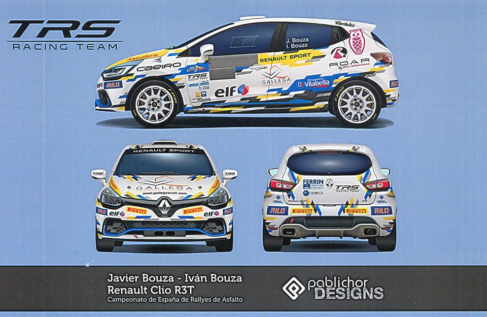 BOUZA Javier - BOUZA Iván, Renault Clio RS R3T, 18,0 x 11,3 cms