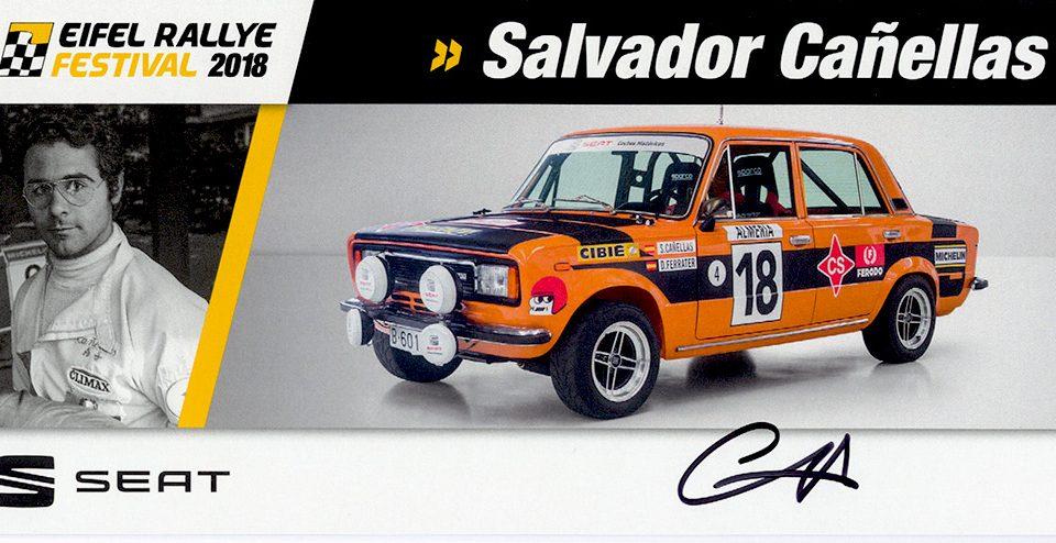 CAÑELLAS Salvador, Seat 124D Especial 1800, #18, 21,0 x 9,9 cms