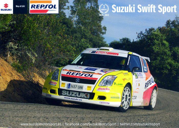 Suzuki Swift Super 1600, #17, 33. Rallye Sierra Morena 2015, 21,0 x 14,8 cms