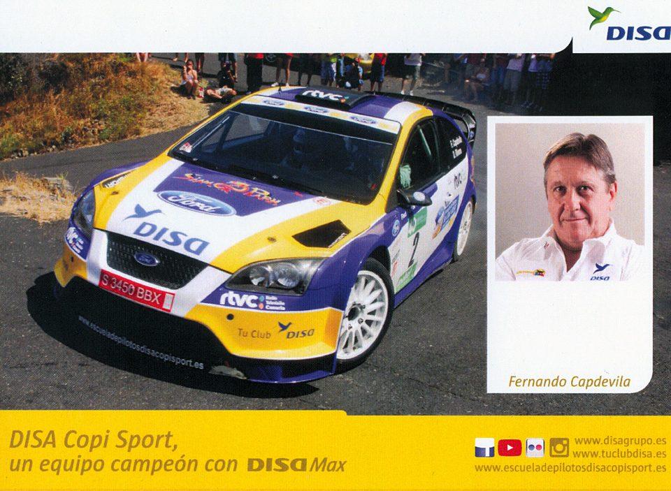 CAPDEVILA Fernando - RIVERO David, Ford Focus RS WRC '06, #2, 40. Rally Senderos de La Palma 2013, 14,8 x 10,5 cms
