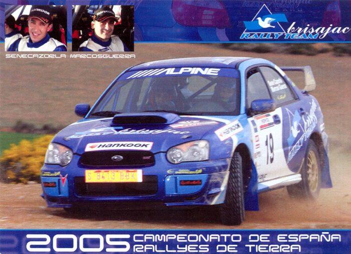 Subaru Impreza WRX STI, #19, Rally de Alcañiz 2005, 14,0 x 9,9 cms