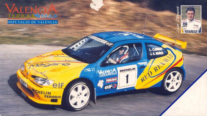 CLIMENT Luis - MUŇOZ José Antonio, Renault Mégane Maxi, #1, 16. Rallye Internacional de La Coruña 1998 cms