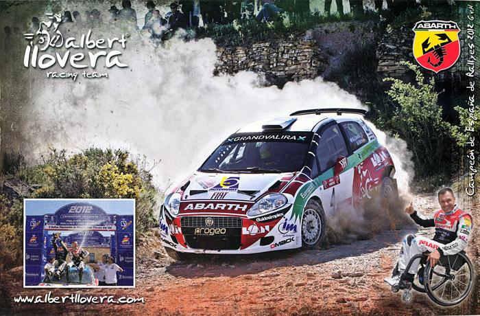 LLOVERA Albert - HARO Alex, Fiat Grande Punto Abarth Super 2000, #4, 14. Rallye de Tierra Ciutat de Cervera 2013, 29,6 x 19,5 cms