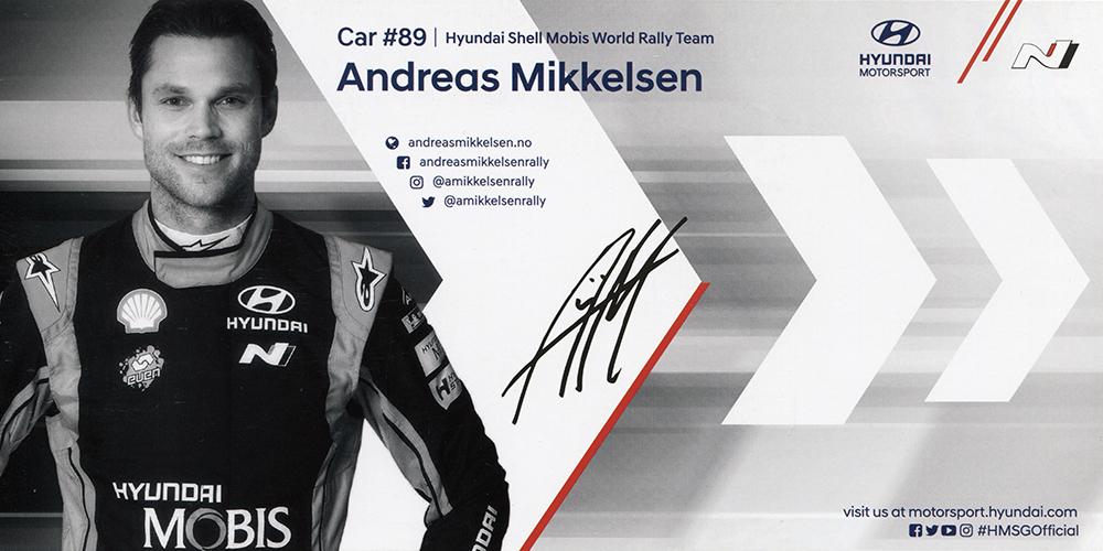 Hyundai Shell Mobis WRT 2019 - Hyundai i20 Coupé WRC, presentation card 2019, 21,0 x 10,5 cms