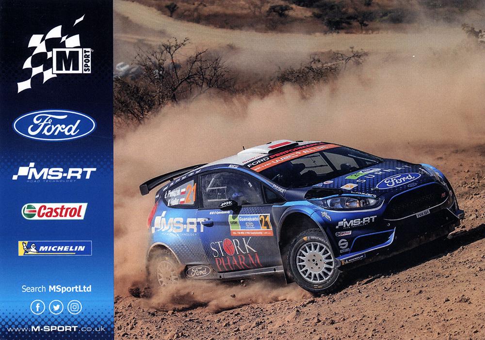 PIENIĄŻEK Łukasz - HELLER Kamil, Ford Fiesta R5, #21, 16. Rally Guanajuato Mexico 2019, 21,0 x 14,8 cms
