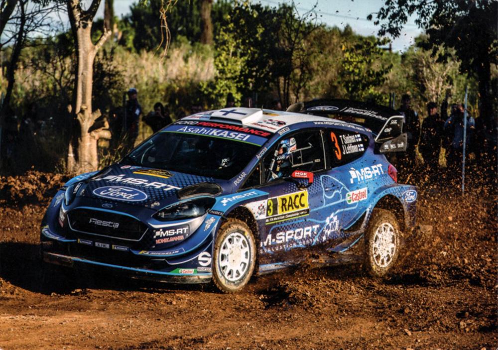 SUNINEN Teemu - LEHTINEN Jarmo, Ford Fiesta WRC, #3, 55. RallyRACC Catalunya - Costa Daurada 2019, 21,0 x 14,8 cms