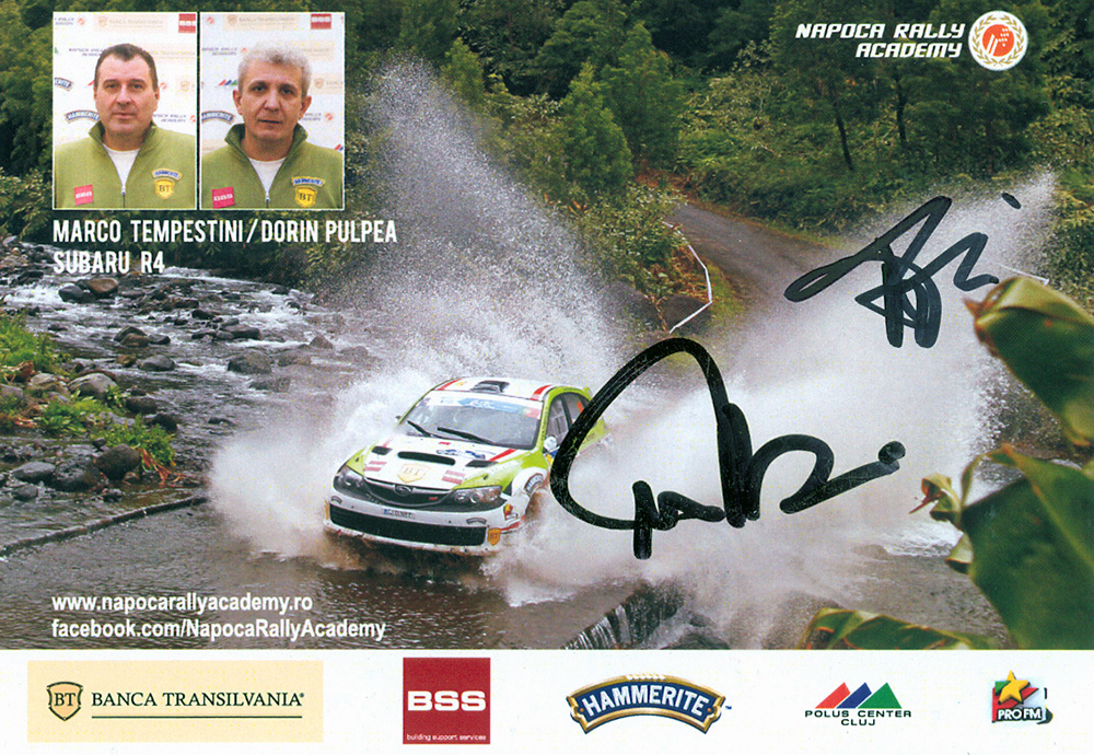 Collection of rallye autograph cards of Tempestini Marco ...