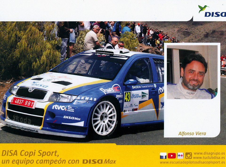 VIERA Alfonso P., Škoda Fabia WRC, #43, 39. Rally Islas Canarias - El Corte Inglés 2015, 14,8 x 10,5 cms